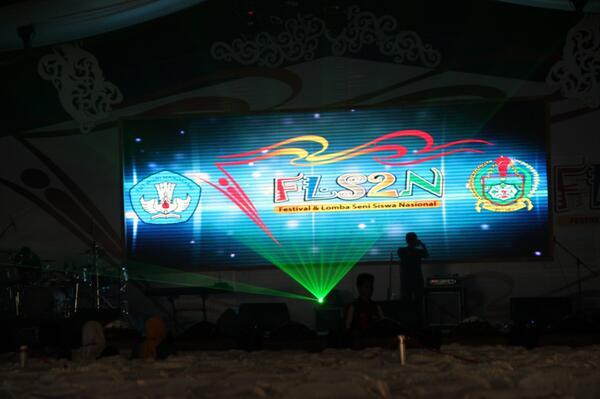 Festival dan Lomba seni Siswa Nasional 2013 itu di Medan-Sumatera Utara