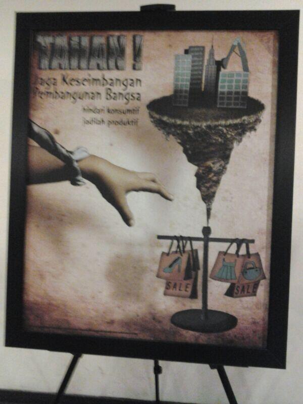 Poster karya intan... sabar ntan, anda masih punya kesempatan ditahun depan. Jadikan yang pertama ini pengalaman dan acuan....