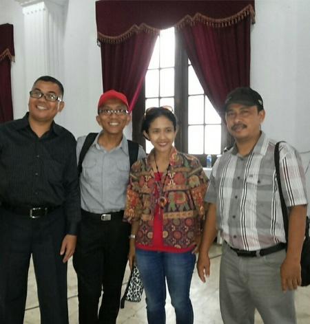 Dari Kiri: Koreografer dari Babel Rasifral, DKI Fermi, Riau Mira dan Faisal dari Batam Kepri