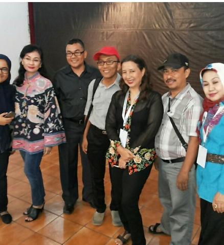 Bersama dengan para juri usai pelaksanaan final dari 11 provinsi